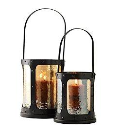 Ruff Hewn Amber Glass Lantern