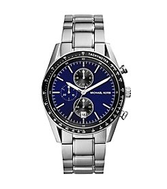 Michael Kors® Stainless Steel Accelerator Watch with Navy Dial