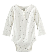 OshKosh B'Gosh® Baby Girls' Long Sleeve Heart Print Bodysuit