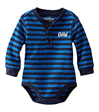 OshKosh B'Gosh Baby Boys' Long Sleeve Striped Thermal Henley Bodysuit