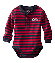 OshKosh B'Gosh® Baby Boys' Long Sleeve Striped Thermal Henley Bodysuit