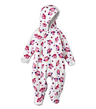 Cuddle Bear® Baby Girls' Hooded Long Sleeve Owl Fleece Pram