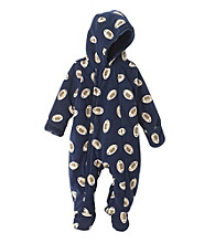 Cuddle Bear® Baby Boys' Hooded Long Sleeve Football Fleece Pram