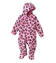 Cuddle Bear® Baby Girls' Hooded Long Sleeve Leopard Fleece Pram