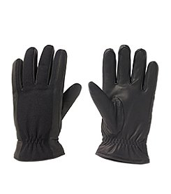 Isotoner® Men's Wool and Leather Glove with Gather