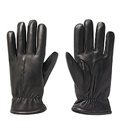 Isotoner® Men's Smooth Leather Gloves with Single Draw