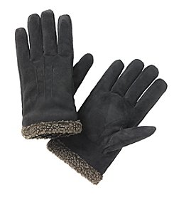 Isotoner® Signature Men's smarTouch® Faux Suede Glove With Berber Spill