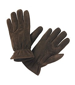 Isotoner® Signature Men's Smartouch Brushed Microsuede Glove With Draws