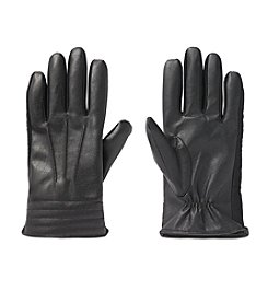 Isotoner® Signature Men's SmarTouch® Faux Nappa With Padded Cuff Gloves