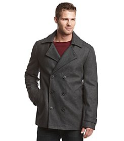 Calvin Klein Men's Wool Double Breasted Coat