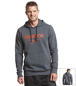Reebok® Men's Long Sleeve Pullover Fleece Hoodie Front Pocket