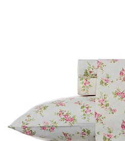 Laura Ashley® Home Audrey Flannel Sheet Set