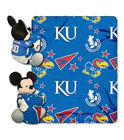 NCAA® University of Kansas Disney™ Mickey Hugger Throw