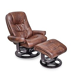Barcalounger Jacque II Whiskey Pedestal Chair & Ottoman