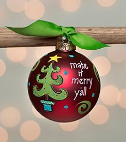 Glory Haus Make It Merry Glass Ornament