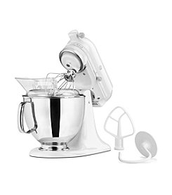 KitchenAid® Artisan® White On White 5-qt. Stand Mixer + FREE Grinder or Shredder see offer details