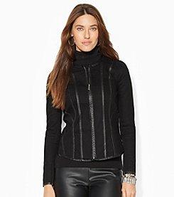 Lauren Jeans Co.® Faux-Leather-Trim Denim Jacket *