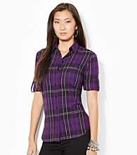 Lauren Jeans Co.® Plaid Cotton Workshirt