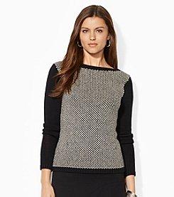 Lauren Ralph Lauren® Birdseye Boatneck Sweater
