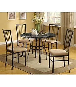 Acme Darell Black Marble Design 5-pc. Dining Set