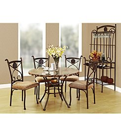 Acme Kleef Brown Marble Design 5-pc. Dining Set