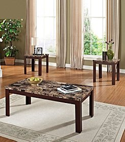 Acme Finely 3-pc. Coffee & End Table Set