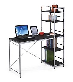 Acme Elvis Black & Chromed Computer Desk w/Shelves