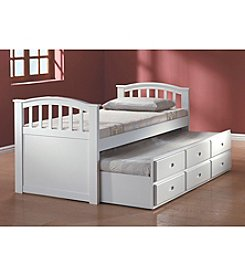 Acme San Marino White Twin Captain Bed