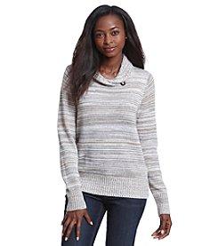 Jeanne Pierre® Wrap Collar Pullover