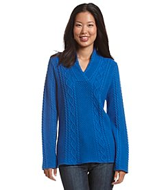 Jeanne Pierre® V-Neck Sweater