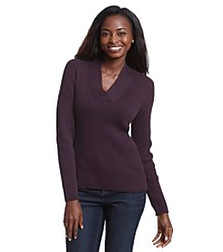 Jeanne Pierre® Crossover Pullover Sweater
