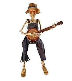 Animated Banjo Playing Skeleton