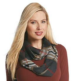 V. Fraas® Lightweight Oversized Classic Fraas Plaid Loop Scarf