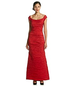 Alex Evenings® Fitted Long Taffeta Gown