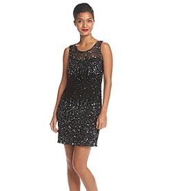 Adrianna Papell® Short Allover Bead Sheath Dress