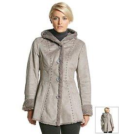 Jones New York® Faux Fur and Faux Suede Coat