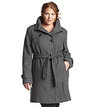 Jones New York® Plus Size Single Breasted Belted Walker