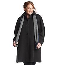 Jones New York® Plus Size Raglan Wool Walker With Scarf