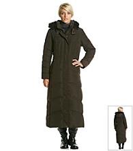 Jones New York® Long Down Coat With Faux Fur Trim Hood