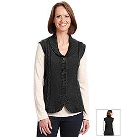 Alfred Dunner® Petites' Manhattan Skyline Sweater Vest