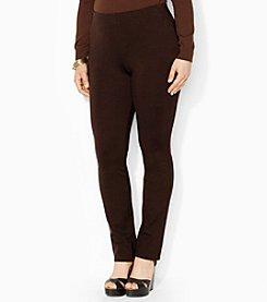 Lauren Ralph Lauren® Plus Size Stretch Straight Pants