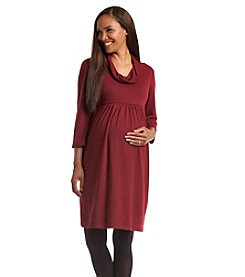 Three Seasons Maternity™ Solid Cowlneck Dress