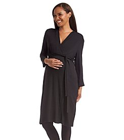 Three Seasons Maternity™ Surplice Solid Dress
