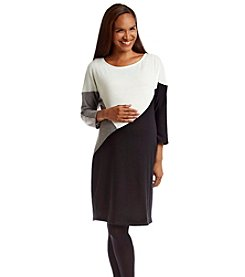 Three Seasons Maternity™ Colorblock Sweater Dress