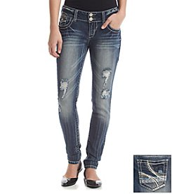 Wallflower® Destruction Curvy Skinny Jeans