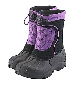 Sporto® Girls' Purple Snowflake Winter Boots
