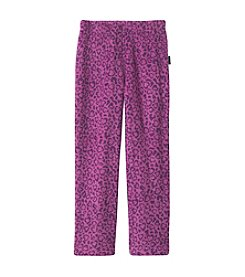Calvin Klein Girls' 5-16 Leopard Fleece Pants