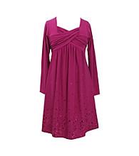 Bonnie Jean® Girls' 7-16 Long Sleeve Spangle Knit Dress