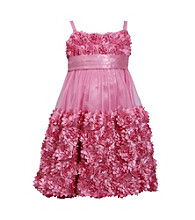 Bonnie Jean Girls' 7-16 Rose Soutache Trim Dress