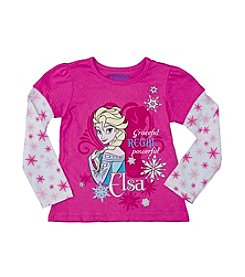 Nannette® Girls' 2T-6X Frozen Princess Elsa Regal Tee